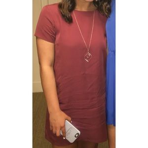 Maroon dress with open v back